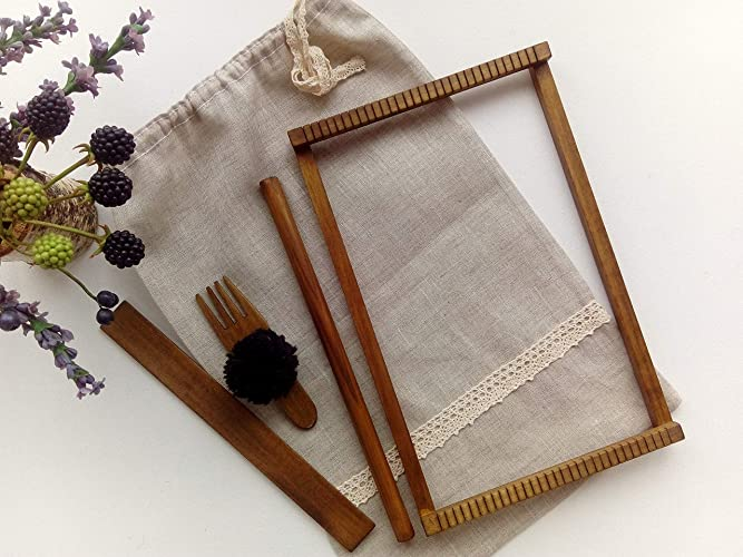 Amazon Com Frame Weave Loom Included Weaving Tools Set Tapestry
