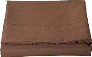 Elegant Comfort Luxury Flat Sheet on Amazon Wrinkle-Free 1500 Thread Count Egyptian Quality 1-Piece Flat Sheet, Queen Size, Chocolate Brown