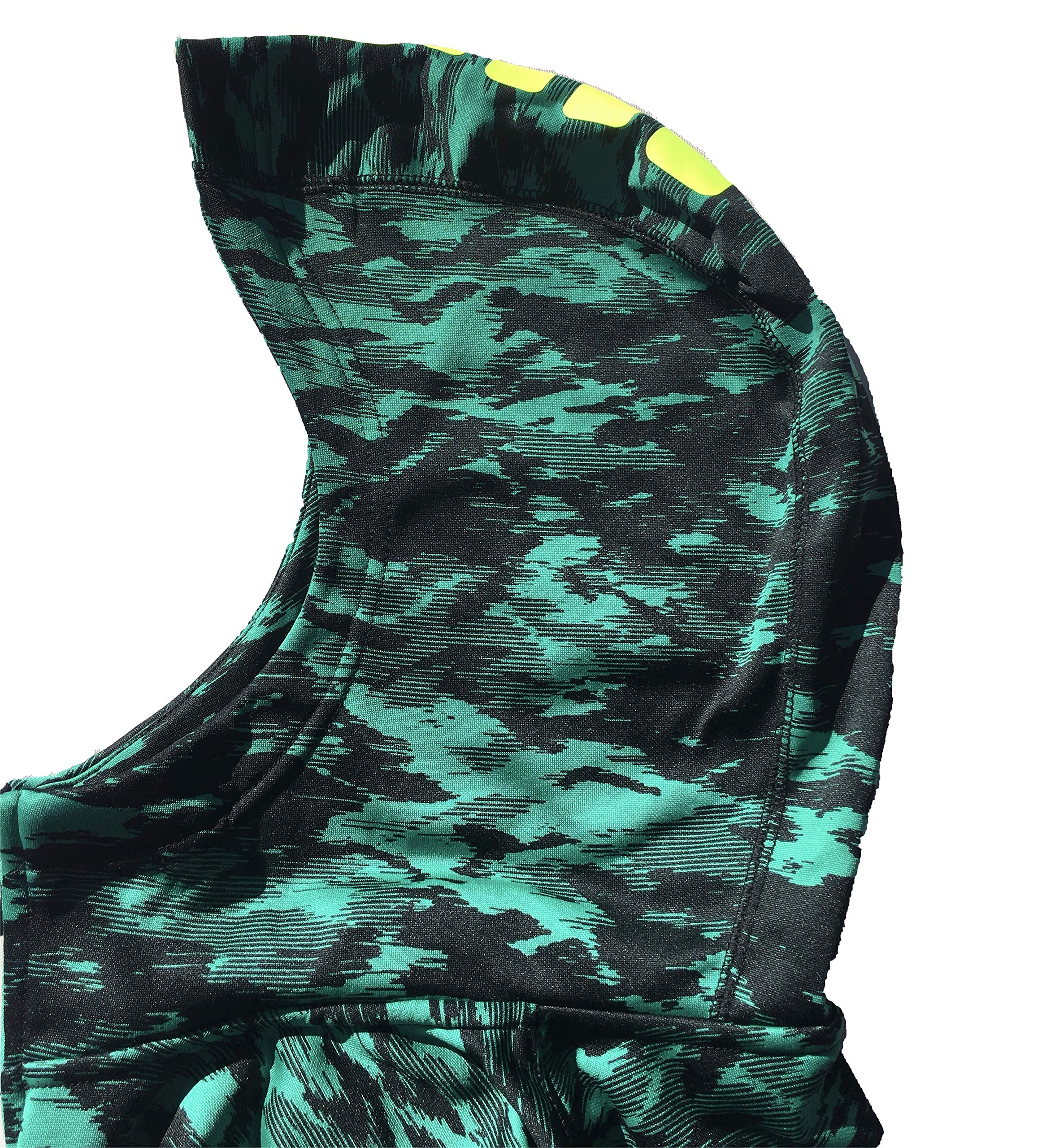 Nike Boy's Therma Elite Basketball Hoodie Neptune Green/Volt Size X-Large by Nike (Image #2)