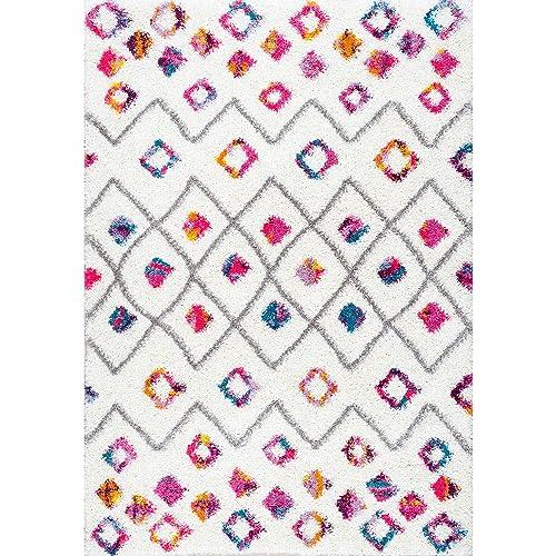 nuLOOM Tatyana Moroccan Shag Rug, 4 x 6 , Pink