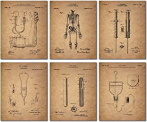 Doctor - Nurse Patent Wall Art Prints - Set of 6 Vintage Medical Photos