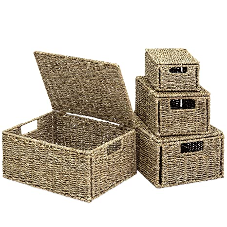 Amazon Best Choice Products Set Of 4 Multi Purpose Woven