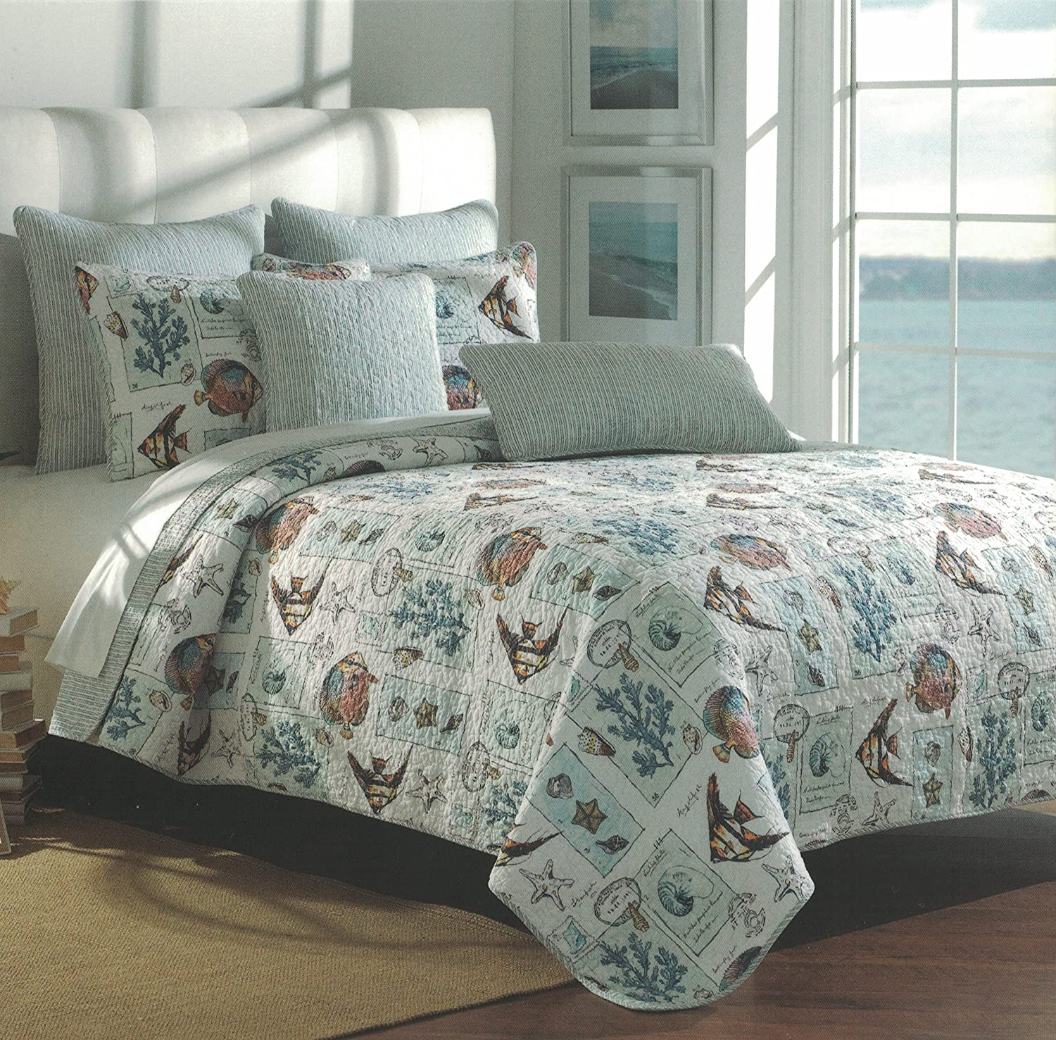 Nicole Miller Collection Tropical Beach Paradise (Twin 1-pc Quilt ONLY)