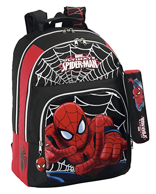 Spider-Man Marvel Mochila Doble Adaptable a Carro (SAFTA 611412560)