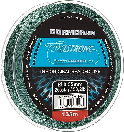 Cormoran Ficelle 135/m Bobine 0,35/Calibre corast nyainrong tress/é en coramid Vert 013535 32