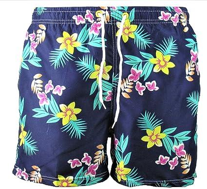 Badehose Blumenmuster Badeshorts Swim Shorts d Flowers Herren Shorts