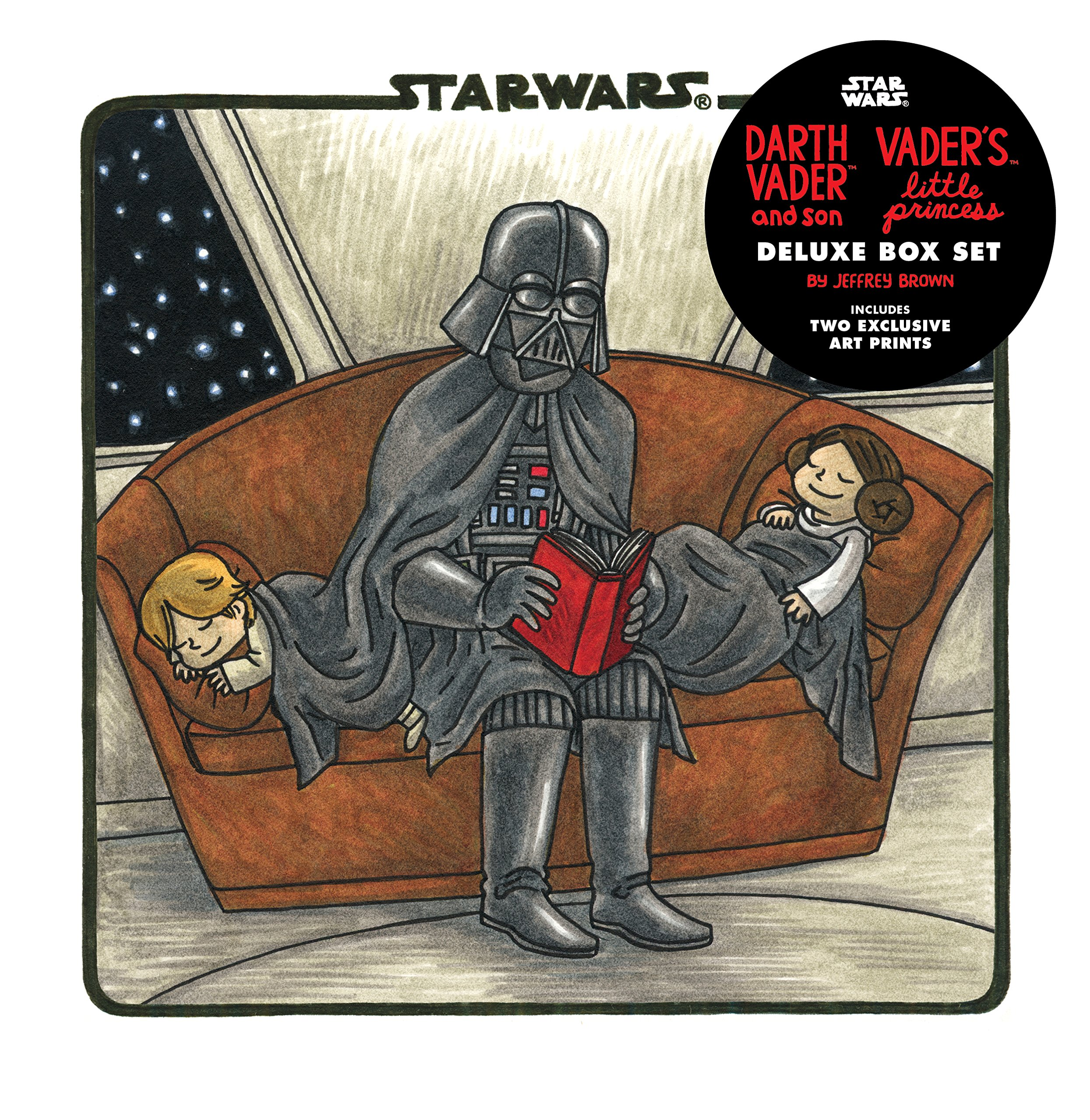531d34ba Amazon.com: Darth Vader & Son / Vader's Little Princess Deluxe Box Set  (includes two art prints) (Star Wars) (9781452144870): Jeffrey Brown: Books