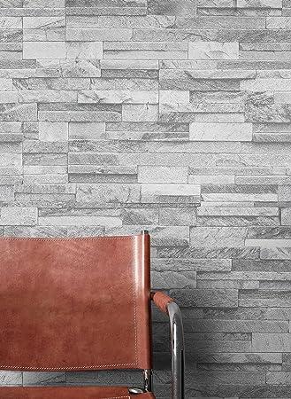 Tapeten in grau top barockes stoff oder mit floralen - Steintapete poco ...