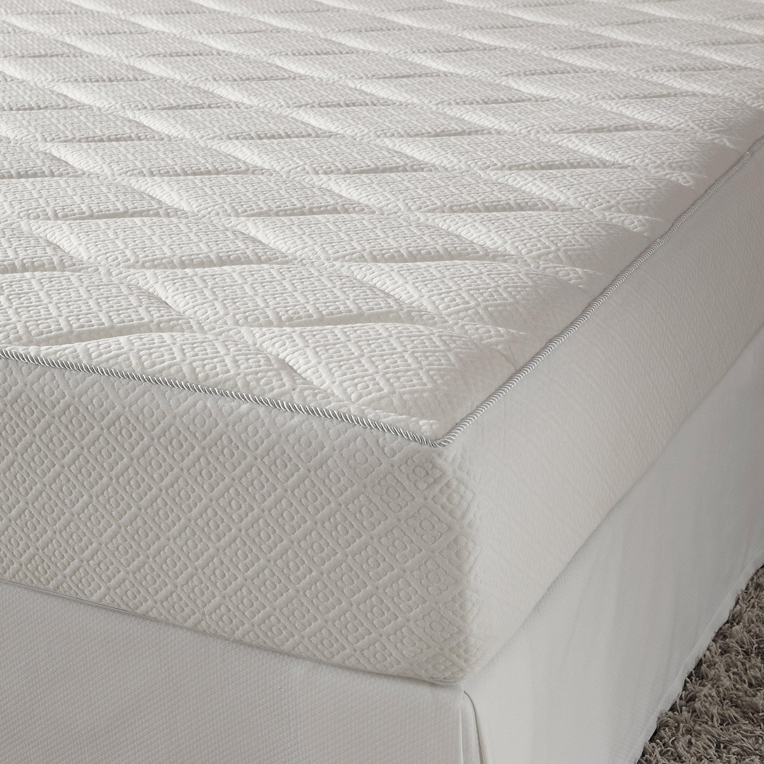 Pure Rest MFM-204-1T 10'' Medium Firm Memory Foam Mattress, Twin, White