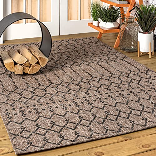 JONATHAN Y Ourika Moroccan Geometric Textured Weave Indoor/Outdoor Natural 8 ft. x 10 ft. Area Rug