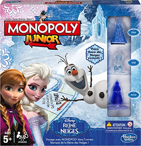 Hasbro Monopoly - Juego de Mesa Junior, con diseño Frozen (versión ...
