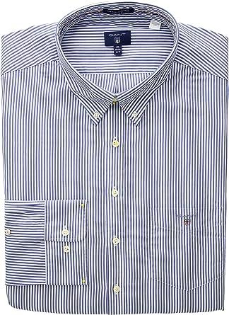 GANT The Poplin Banker Stripe LS BD Camisa para Hombre: Amazon.es: Ropa y accesorios