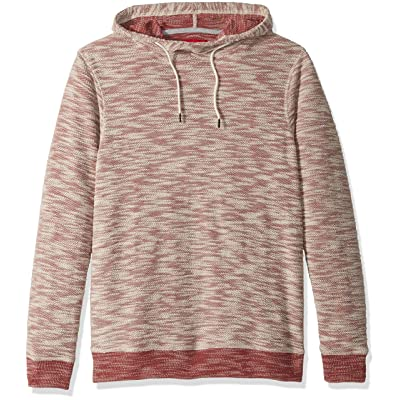 Unionbay Men's Long Sleeve French Terry Pullover Hoodie Sweatshirt, russet, Small: Clothing