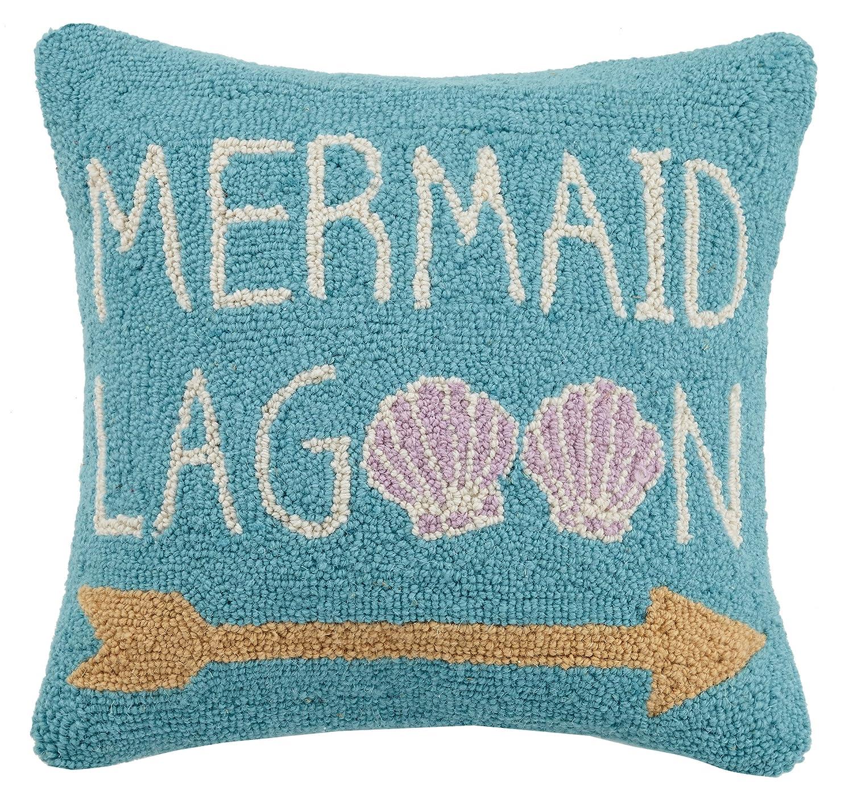 Peking Handicraft Mermaid Lagoon Hook Pillow Turquoise