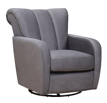Cambridge 981706 GRAY Sheridan Swivel Accent Chair, Gray