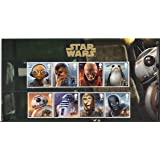 STAR WARS The Last Jedi Character Stamp Set Royal Mail Collectible Postage Stamps