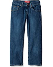 Lee Big Boys' Premium Select Regular Fit Straight Leg Jeans, Dawson Handsand, 14 Slim