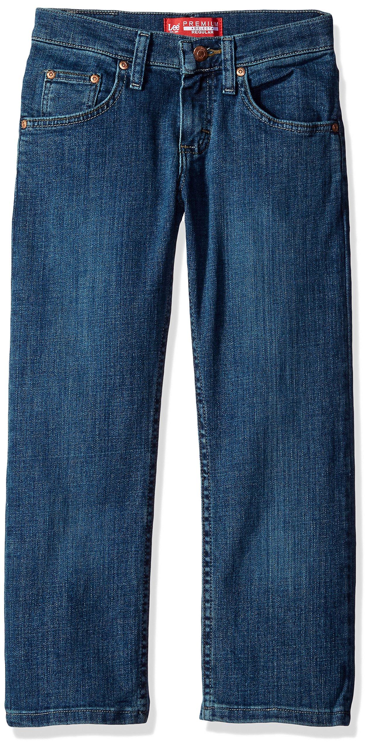 Lee Boys' Premium Select Fit Straight Leg Jeans, Dawson Handsand, 14 Regular