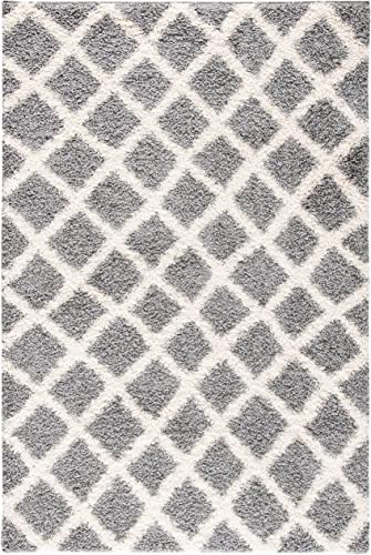 Safavieh Dallas Shag Collection SGDS258G Trellis 1.5-inch Thick Area Rug