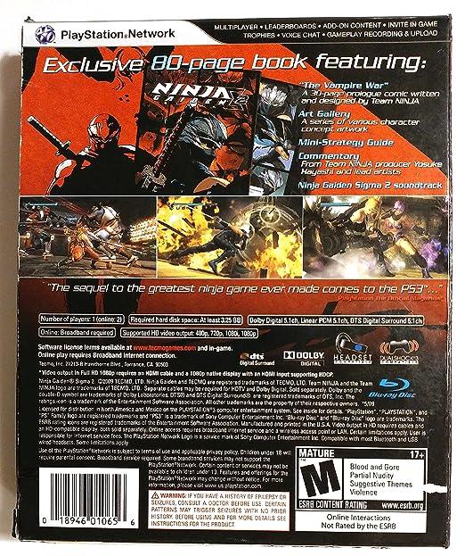 Amazon.com: Ninja Gaiden Sigma 2 Collectors Edition: Video ...