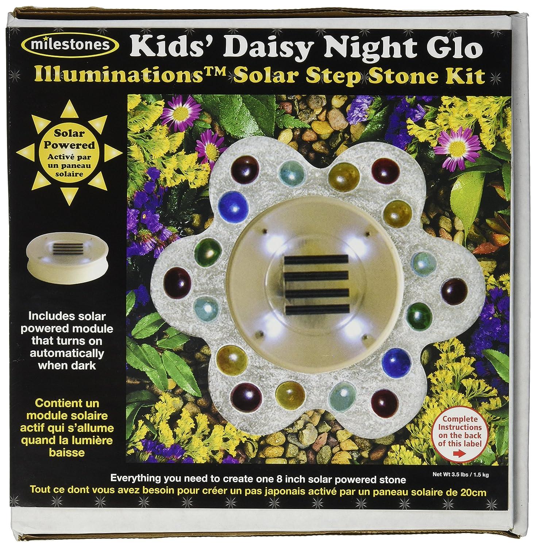 Kids Daisy Night Glow Kids/' Daisy Night Glow 90111252 Midwest Products Illuminations Solar Stepping Stone Kit