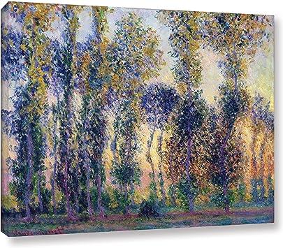 Four poplars by Claude Monet Giclee Fine ArtPrint Repro on Canvas