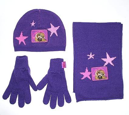 Bratz - Ensemble bonnet, écharpe et gants - Fille violet 4-8 ans ... 1a42a3aef27
