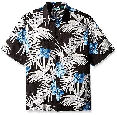 2d190eb57f Cubavera Men s Big-Tall All Over Tropical Printed Short Sleeve Woven Shirt