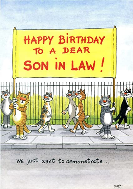 Birthday Card Happy To A Dear Son In Law We Just Want Demonstrate Funny Amazoncouk Kitchen Home