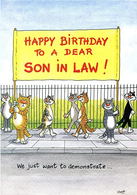 Birthday Card Happy To A Dear Son In Law We Just Want Demonstrate