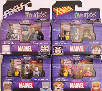 Gambit /& Pyro Marvel Minimates Series 60 Uncanny X-Men Strike Force Banshee