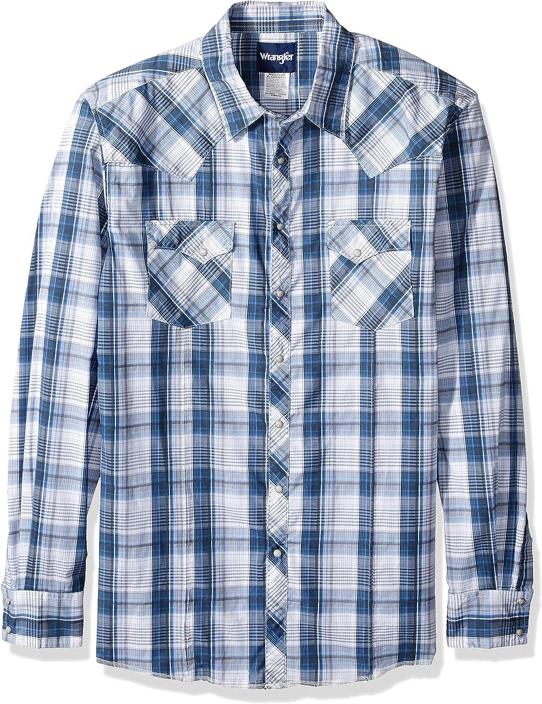 Wrangler Camisa tejida de manga larga con broche a presión ...