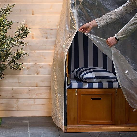 Ultranatura 1166 Cubierta para sillones de Playa, Transparente, 130x108x165 cm