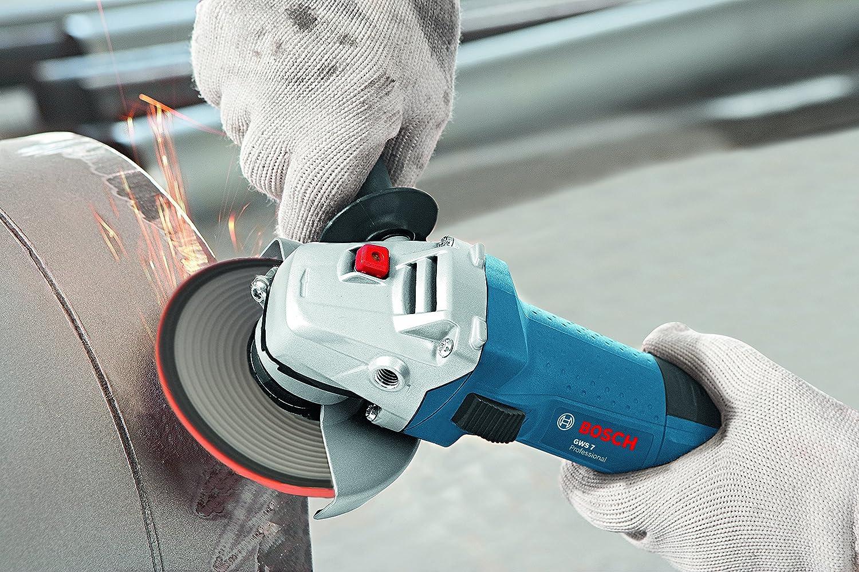 720 Watt mit Wiederanlaufschutz Bosch Professional GWS 7-115 E Winkelschleifer 115 mm 0601388203 6-stufige Drehzahlvorwahl in Karton