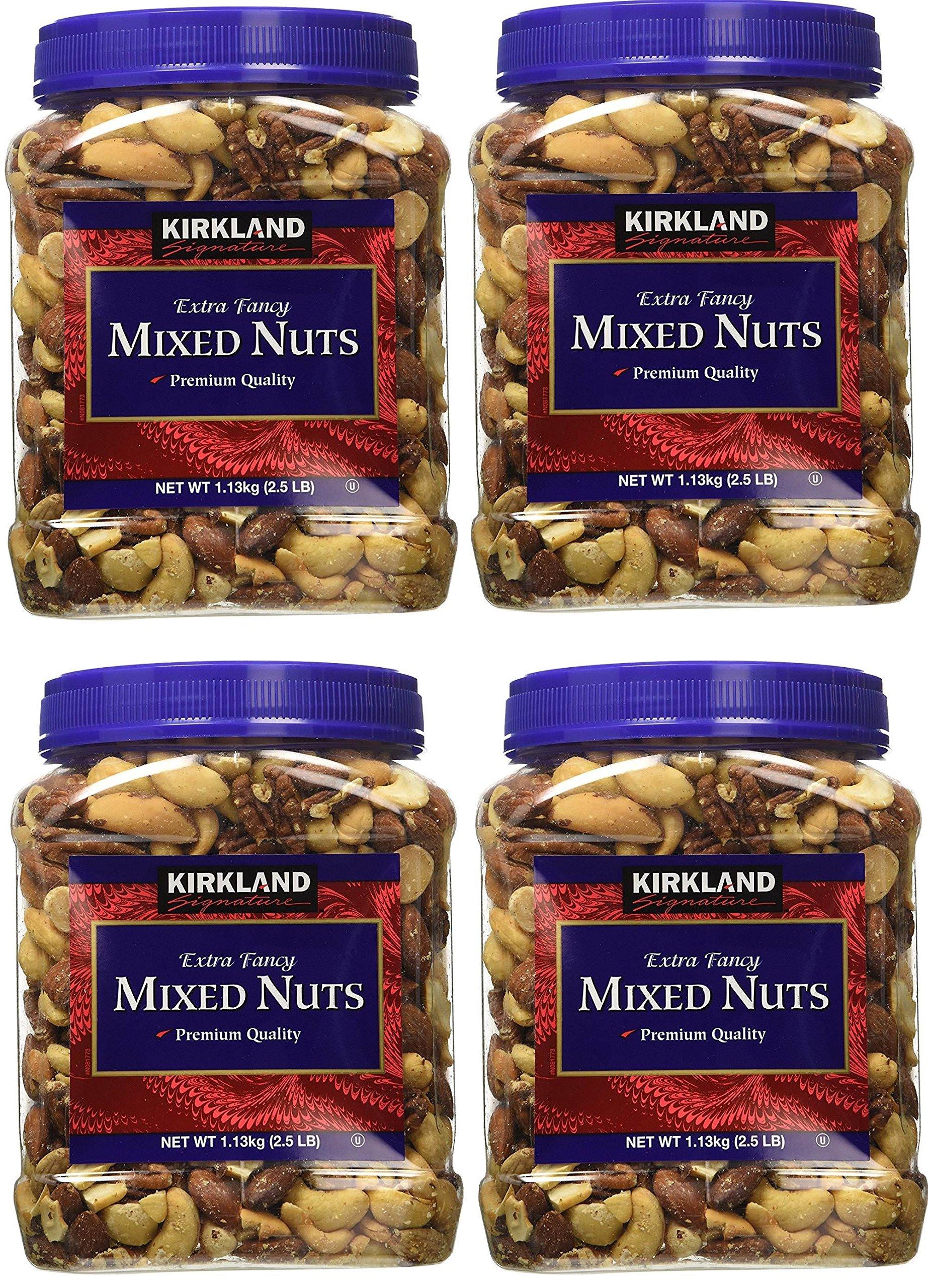 Signatures Kirkland, 4 Tubs (Fancy Mixed Nuts, 2.5 LB)