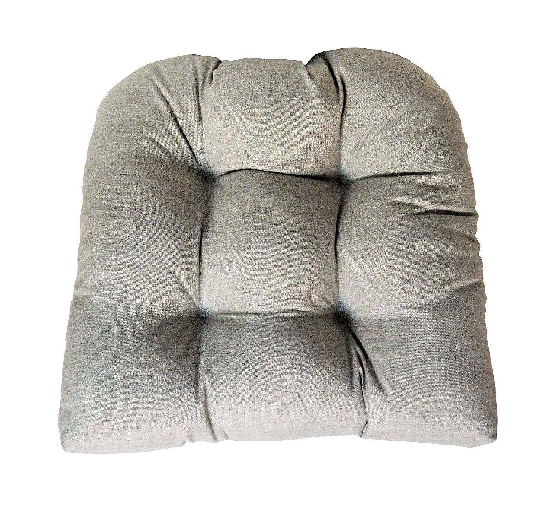 Amazon.com: Sunbrella fundido plata grande silla de mimbre ...