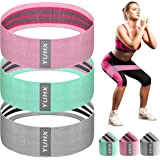 [Latest 2020] Resistance Bands for Legs and Butt, Fabric Workout Booty Glute Thigh, Women/Men Stretch Exercise Loops…