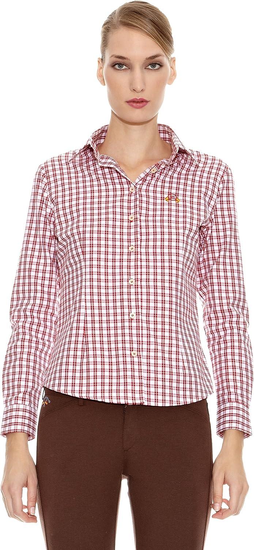 Spagnolo Camisa Villela Estoque Burdeos/Blanco L: Amazon.es: Ropa y accesorios
