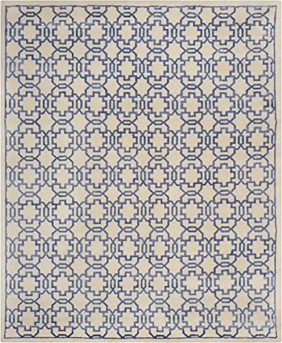 Safavieh Mosaic Collection MOS152A Hand-Knotted Cream and Purple Wool Viscose Area Rug 9' x 12'