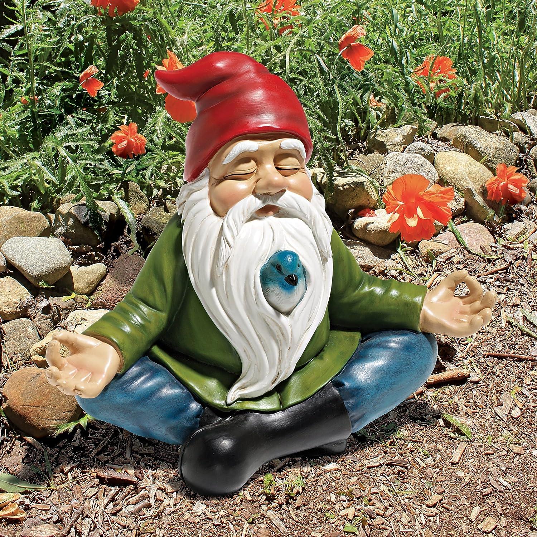 amazoncom design toscano zen garden gnome statue 8 inch polyresin full color garden outdoor - Gnome Garden