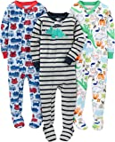 Simple Joys by Carter's Infant-and-Toddler-Bodysuit-Footies, Fire Truck/Dino/Animals Green, 24 meses