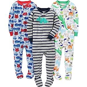 Simple Joys by Carter's Baby Boys' 6-Piece Snug Fit Cotton Pajama ...
