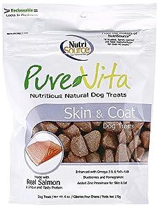 Pure Vita Skin and Coat Dog Treats 6 oz
