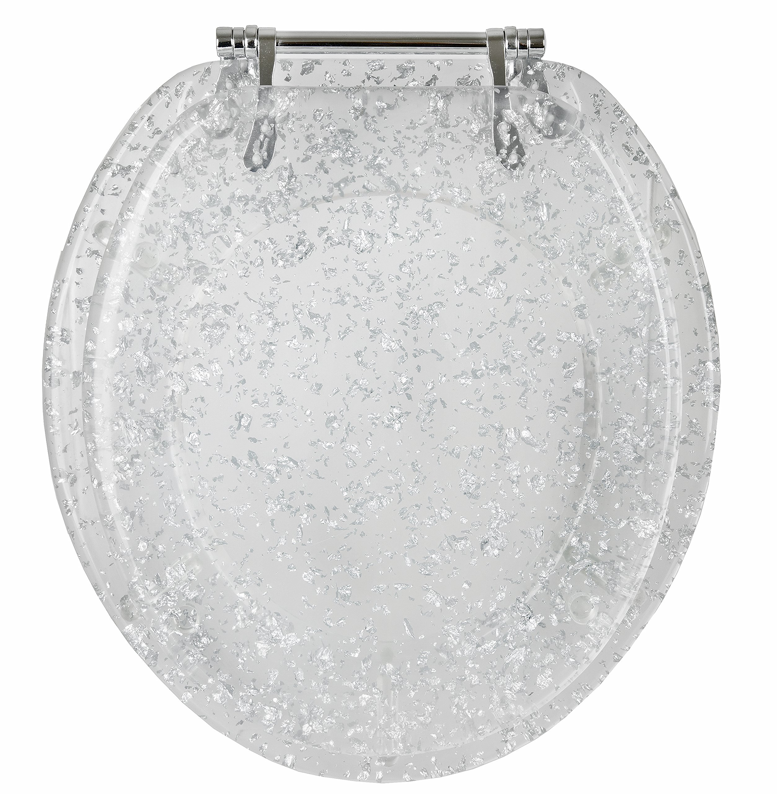 ginsey standard resin toilet seat with chrome hinges. Black Bedroom Furniture Sets. Home Design Ideas