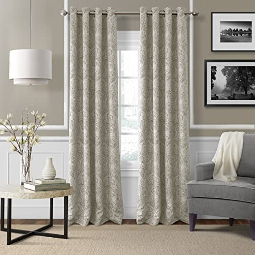 Elrene Home Fashions 26865854398 Blackout Room Darkening Grommet Window Curtain Drape Panel
