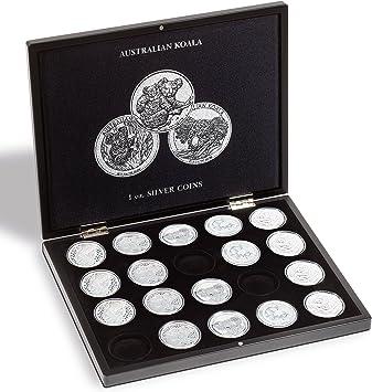 Estuche para 20 monedas de plata Koala en cápsulas, negro: Amazon.es: Juguetes y juegos