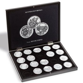 Estuche para 20 monedas de plata Koala en cápsulas, negro ...