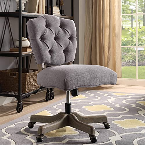 Linon Hazel Grey Office Chair