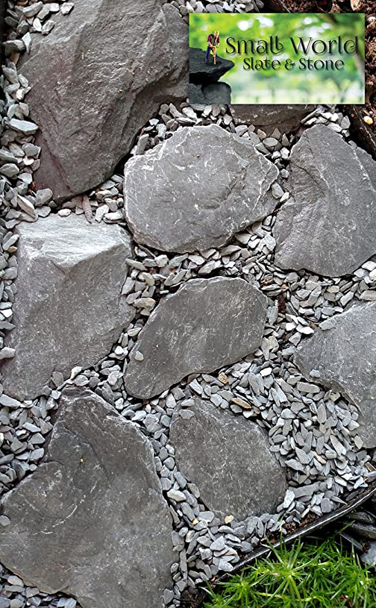 Natural Slate Stone 1 To 3 Inch Rocks For Miniature Or Fairy Garden Aquarium Model Railroad Wargaming 2lbs Amazon In Pet Supplies