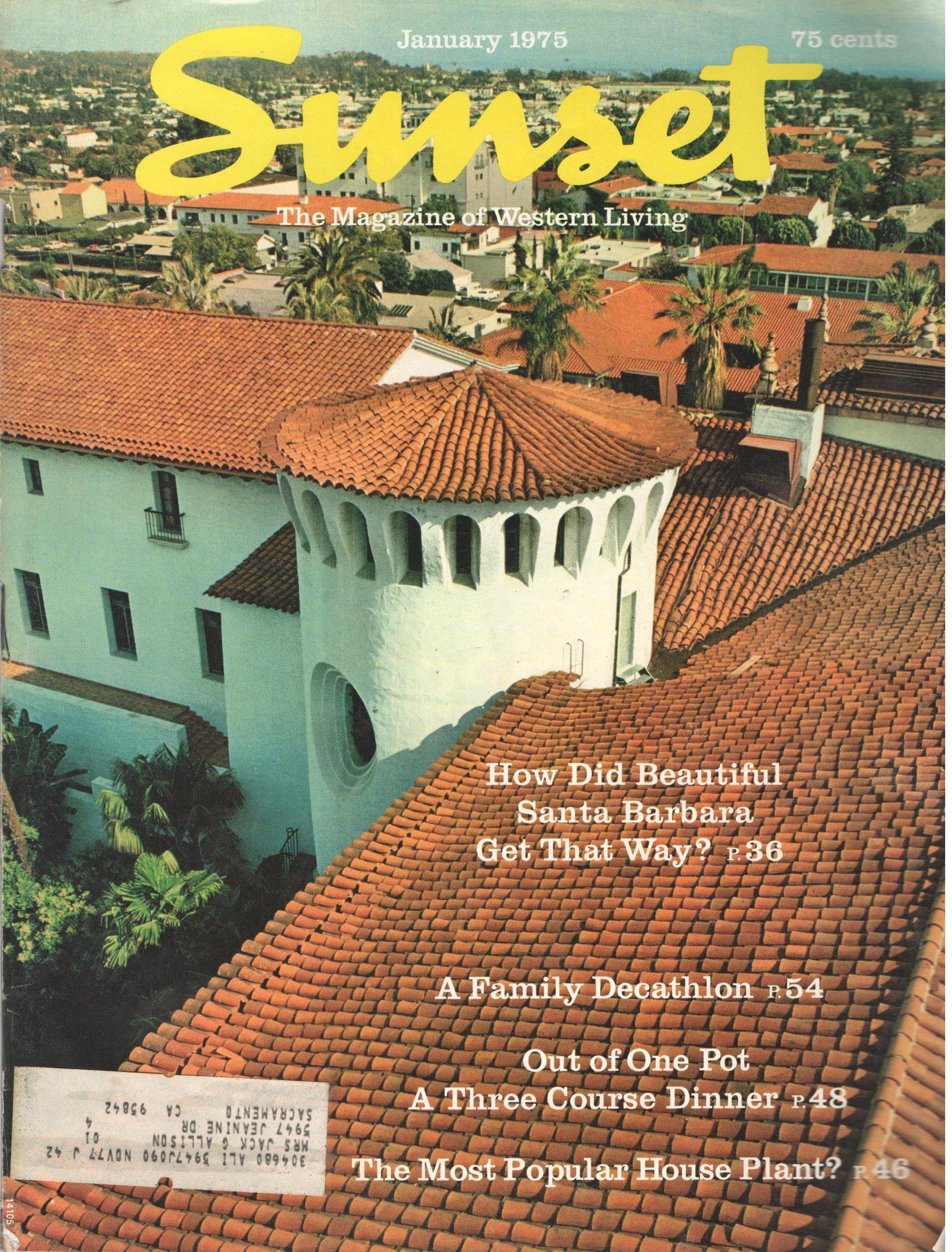 Amazon.com: SUNSET MAGAZINE JANUARY 1975: Books